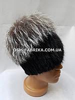 Мягкая меховая шапка для женщин чернобурка хит продаж