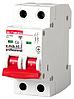 Модульный автоматический выключатель e.mcb.pro.60.2.C 6 new, 2р, 6А, C, 6кА