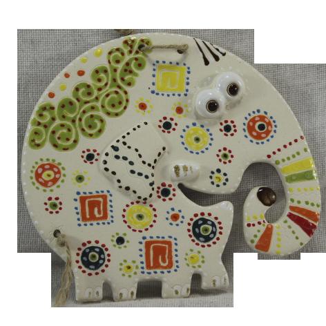 Сувенир керамический «Слон» белый хобот вниз
