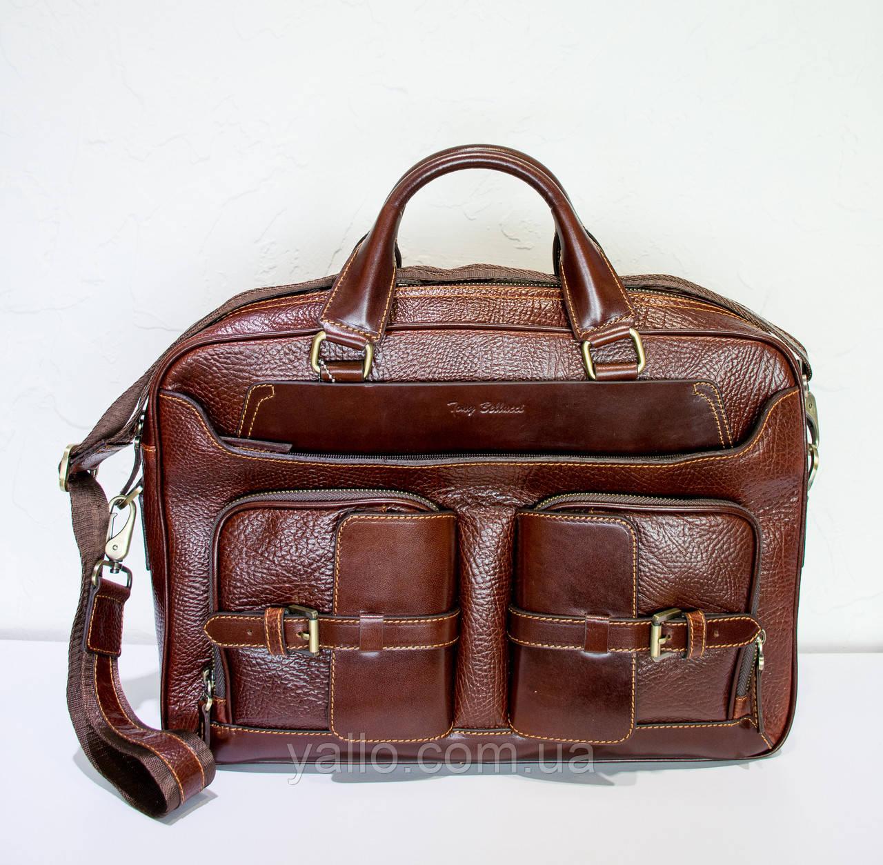 Натуральная кожаная сумка для мужчин Tony Bellucci T5014-896