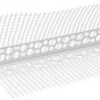 НАУГОЛЬНИК перфорированый с сеткой пластик. 3,0м