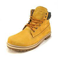 Ботинки  мужские с мехом  Timberland кожаные желтые (р.42,43,44.45)