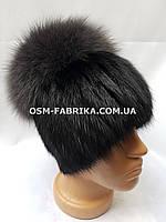 Качественная меховая шапка для женщин чернобурка хит продаж