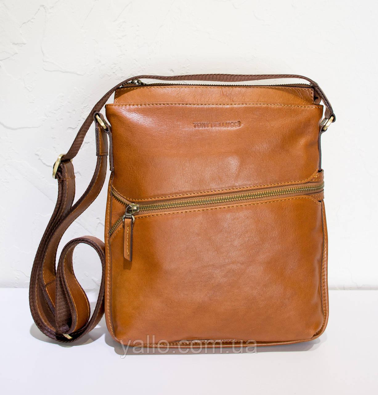 d077365b87e9 Натуральная кожаная сумка для мужчин Tony Bellucci T5029-902 -  Интернет-Магазин