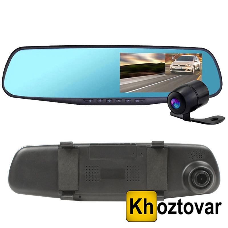 Зеркало-видеорегистратор с двумя камерами DVR 138W