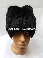 Качественная меховая шапка с ушками кролик