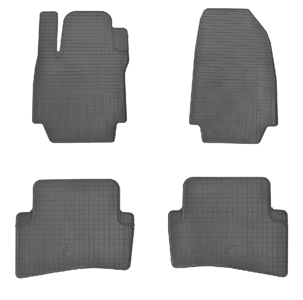 Коврики в салон для Renault Captur 13-/ Clio III 05-/ Clio IV 12- (комплект - 4 шт) 1018084