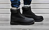 Мужские зимние ботинки Timberland с текстильной подкладкой