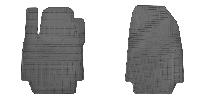 Коврики в салон для Renault Captur 13-/ Clio III 05-/ Clio IV 12- (передние - 2 шт) 1018082, фото 1