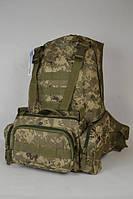 Рюкзак камуфльований з подсумком (піксель)