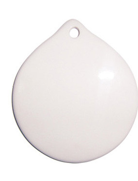 Капля керамическая для сублимации 7 см (с отверстием)