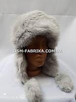 Стильная шапка-ушанка кролик от производителя