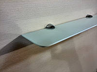 Полка стеклянная прямая белая 4 мм 40 х 15 см