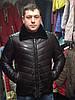 Мужская утепленная кожаная куртка с меховым воротником