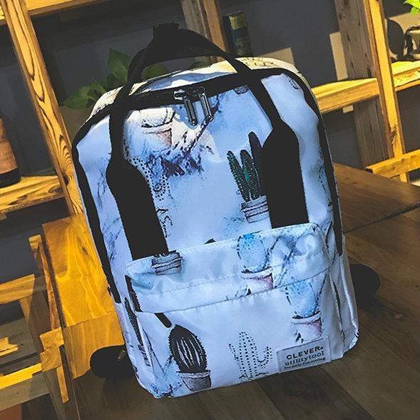 Нейлоновый рюкзак с принтом кактусов
