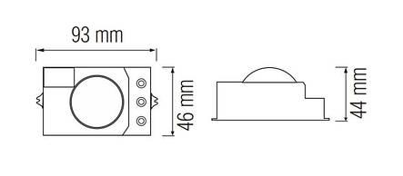 Датчик движения Horoz Electric POLO 360° белый (088-001-0007-010), фото 2