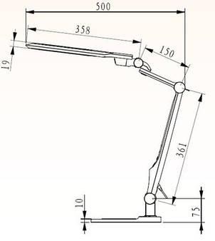Настольный LED светильник EBRU-S, фото 2