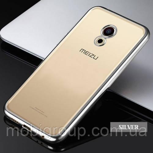 Силиконовый чехол с бампером под металлик Meizu Pro 6