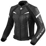 Мотокуртка для девушек Revit Xena2 кожа/текстиль черная/белая, 36, фото 1