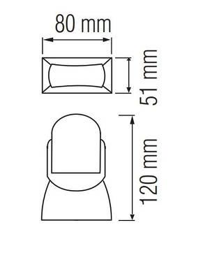 Датчик движения Horoz Electric MEGANE 180° белый IP65 (088-001-0008-010), фото 2