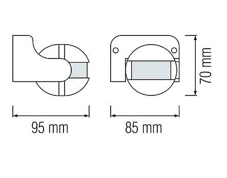 Датчик движения Horoz Electric LINEA 180° белый (088-001-0003-010), фото 2
