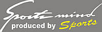 Наклейка - Sports Mind на капот -  Белая  с желтым 28х8 см