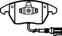 Колодка тормозная AUDI/VW A3/GOLF/TOURAN передний (производитель ABS) 37414, фото 1