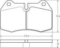 Колодка торм. BMW 7 ser. E38/8 ser. E31 передн. (пр-во ABS) 36958