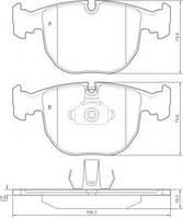 Колодка тормозной BMW 5 ser./7 ser./X5 передний (Производство ABS) 36961