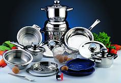 Набор посуды из нержавеющей стали BergHOFF Profi De Luxe Induction 20 предметов