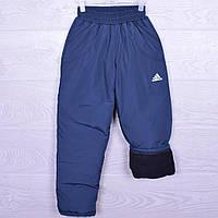 """Утепленные спортивные штаны на флисе """"Adidas"""".5-9 лет. Синие. Оптом"""