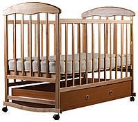 Детская кроватка Наталка (светлая с ящиком)
