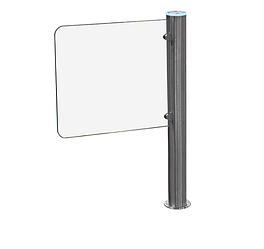 Турникет-калитка сервоприводная, лопасть из прозрачного стекла L=600 мм, встроенный блок управления GATE-GS sl