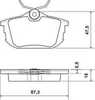 Колодка тормозной MITSUBISHI/VOLVO CARISMA/S40/V40 задней (Производство ABS) 36950