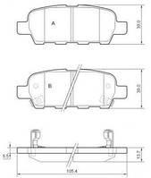 Колодка тормозная NISSAN/RENAULT QASHQAI/X-TRAIL/KOLEOS заднего (производитель ABS) 37321