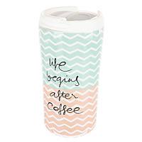 Керамический стакан-чашка для кофе и чая (340 мл.)
