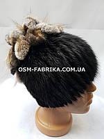 Теплая шапка из меха нутрии отличного качества