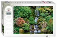 Пазл Водопад в японском саду 1000 эл