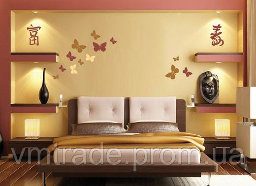 Трафарет для стен Бабочки, artFauna 30,  64*44см