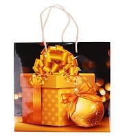 """Пакет подарочный новогодний """"Подарок"""" ламин. 230*220*140 мм PCN-2337"""