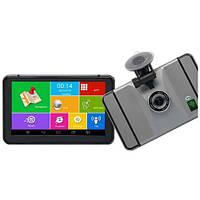 Навігатор Android GPS + регістратор 7d IPS 4 ядра+ 8gb+Wi-Fi+Bluetooth+AV+512ddr, фото 1