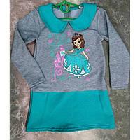 Детское теплое платье для девочки двухнитка, детские платья оптом от производителя