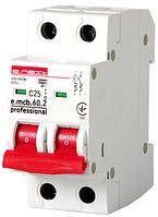 Модульный автоматический выключатель e.mcb.pro.60.2.C 25 new, 2р, 25А, C, 6кА