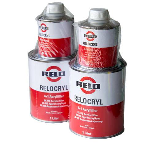 Грунт акриловый Relocryl (Mipa) 2K HS 4+1 комплект с отвердителем 1,25 л, фото 2