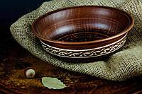 Миска из красной глины Козацкая ангоб