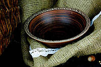 Миска из красной глины Супчик ангоб