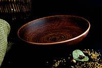 Миска из красной глины для вареников гладкая