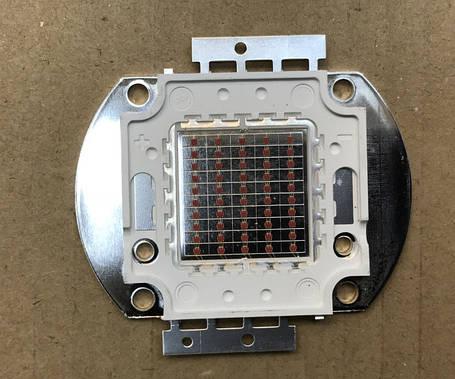Светодиод матричный PREMIUM СОВ для прожектора SL-50 50W желтый (45Х45 mil) Код.59125, фото 2