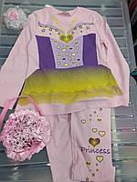 """Пижама для девочки розовая """"Принцесса"""""""