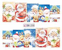 Слайдер  для ногтей 230 Новогодний дизайн